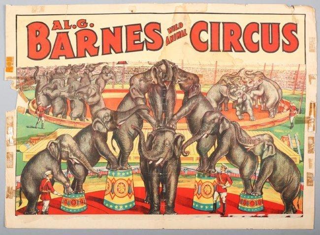 Vintage Al G. Barnes Circus Poster