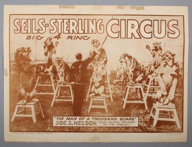 c1930 Seils - Sterling 4 Ring Circus Poster