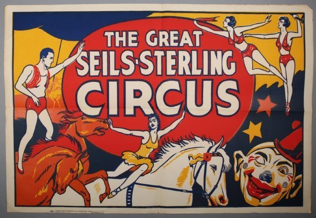 Vintage The Great Seils-Sterling Circus Poster