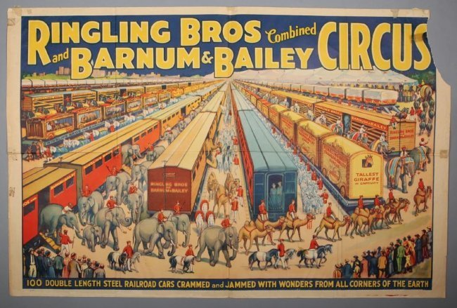 Large 1930's Ringling Brothers & Barnum & Bailey Circus