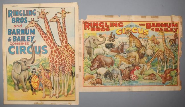 Pair~Vintage Ringling Brothers & Barnum & Bailey Circus
