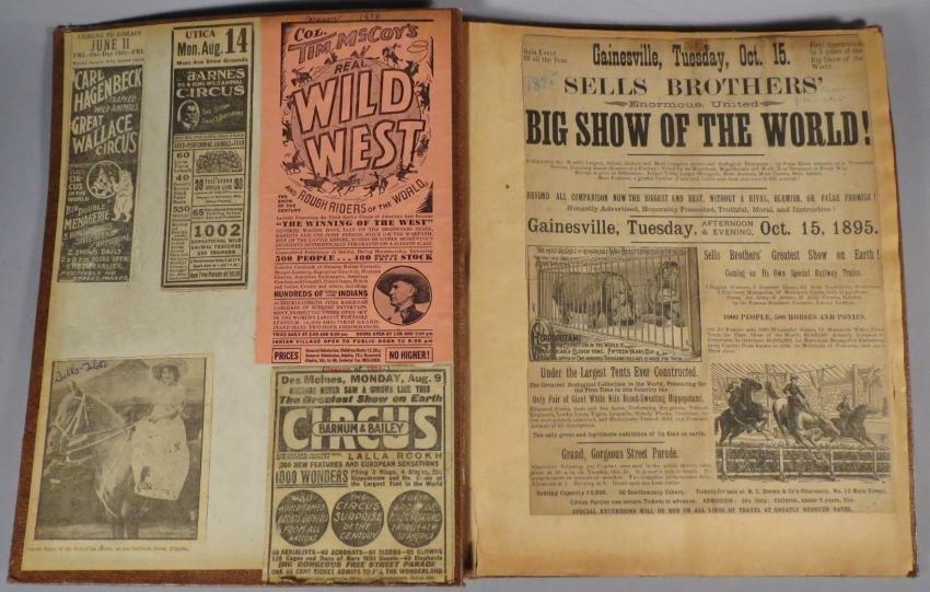 Menagerie! Ringling, Sells-Floto Scrapbook + 1894 + - 3
