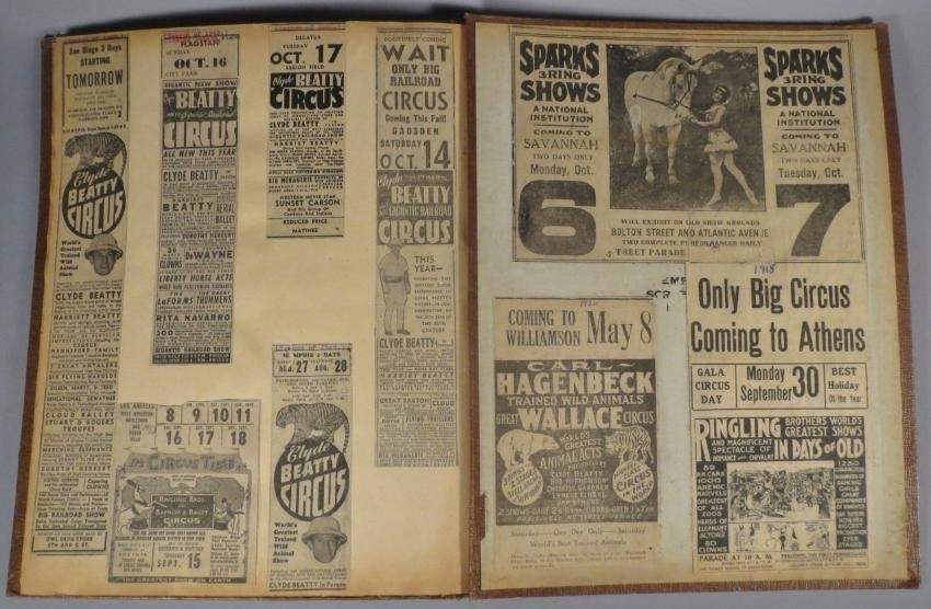 Menagerie! Ringling, Sells-Floto Scrapbook + 1894 + - 4