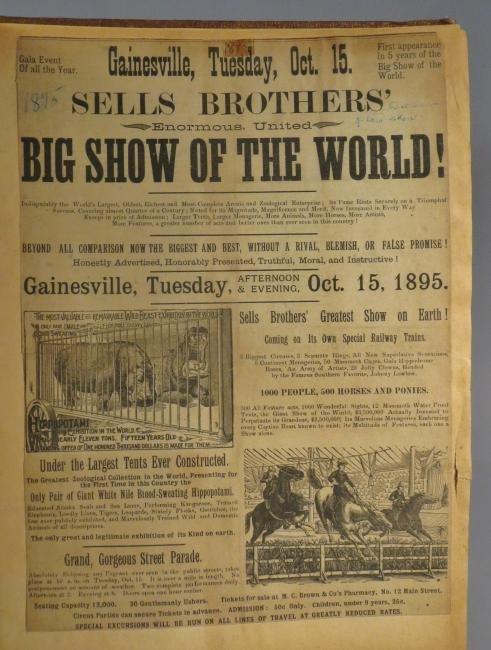 Menagerie! Ringling, Sells-Floto Scrapbook + 1894 + - 8