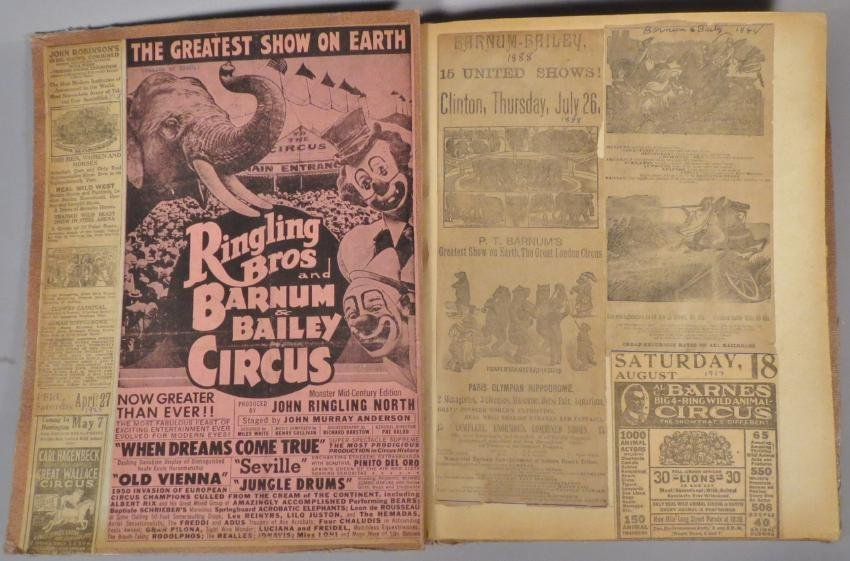 Most Colossal of All!Circus Scrapbook, Al G Barnes 1875 - 9