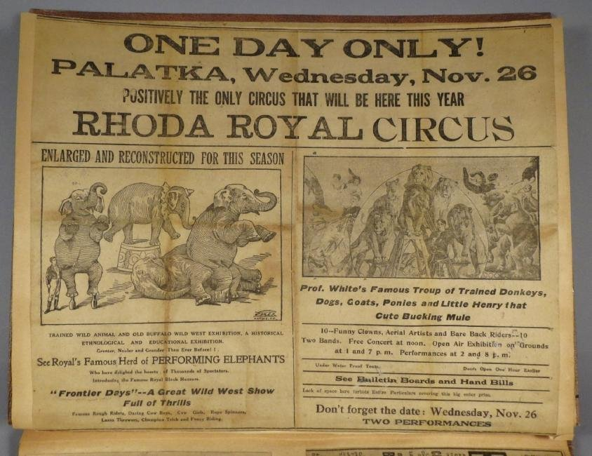 One Day Only! Circus Scrapbook, Hagenbeck-Wallace 1872 - 3