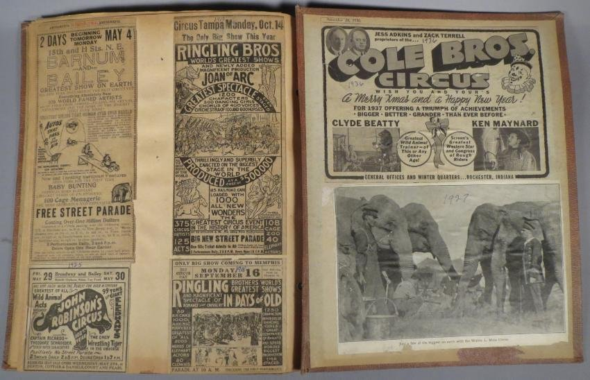 One Day Only! Circus Scrapbook, Hagenbeck-Wallace 1872 - 6