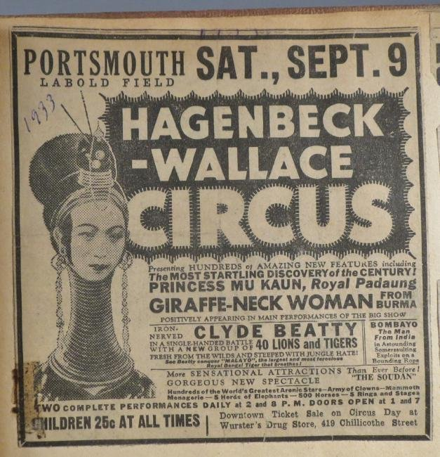 One Day Only! Circus Scrapbook, Hagenbeck-Wallace 1872 - 8