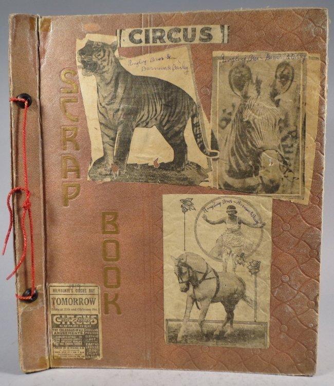 Giraffe Neck Woman! Circus Scrapbook, Gollman Bros 1892