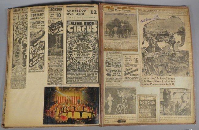 Giraffe Neck Woman! Circus Scrapbook, Gollman Bros 1892 - 5