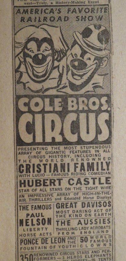 Giraffe Neck Woman! Circus Scrapbook, Gollman Bros 1892 - 7
