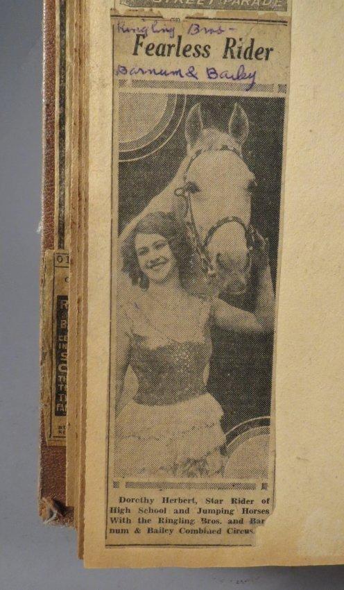 Giraffe Neck Woman! Circus Scrapbook, Gollman Bros 1892 - 8