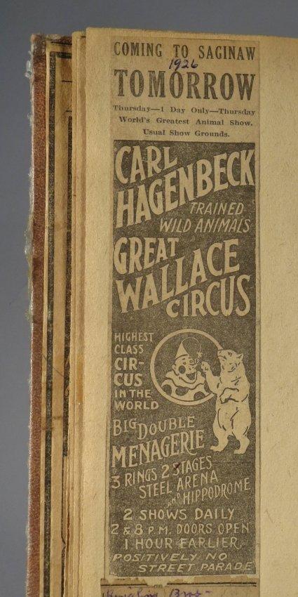 Giraffe Neck Woman! Circus Scrapbook, Gollman Bros 1892 - 9