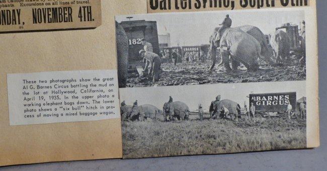 Looping the Gap! Circus Scrapbook, Barnum & Bailey 1887 - 4