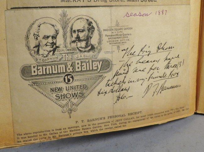Looping the Gap! Circus Scrapbook, Barnum & Bailey 1887 - 5