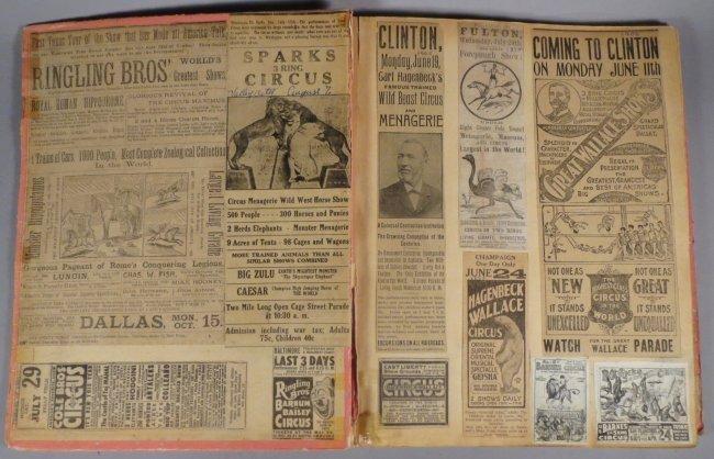 Looping the Gap! Circus Scrapbook, Barnum & Bailey 1887 - 8