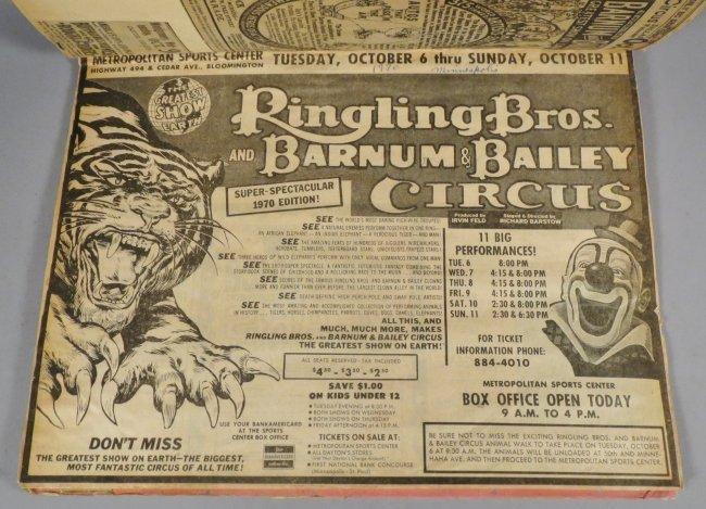 Looping the Gap! Circus Scrapbook, Barnum & Bailey 1887 - 9