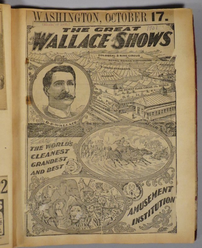 Enormous Shows United! Circus Scrapbook, 1901 Dempsey - 10