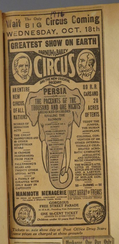 Enormous Shows United! Circus Scrapbook, 1901 Dempsey - 5