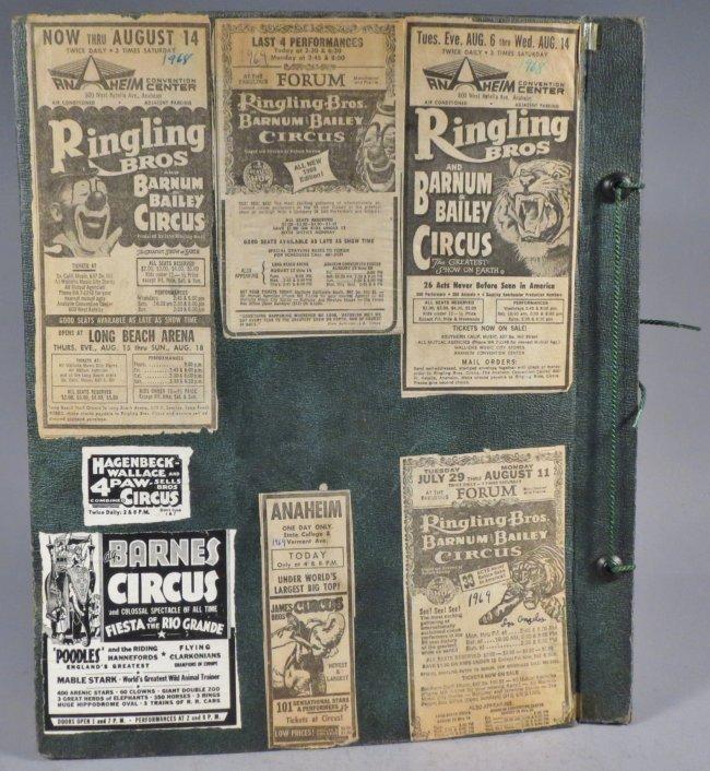 Zoological Paradise!Circus Scrapbook,Ringling Bros 1891 - 2