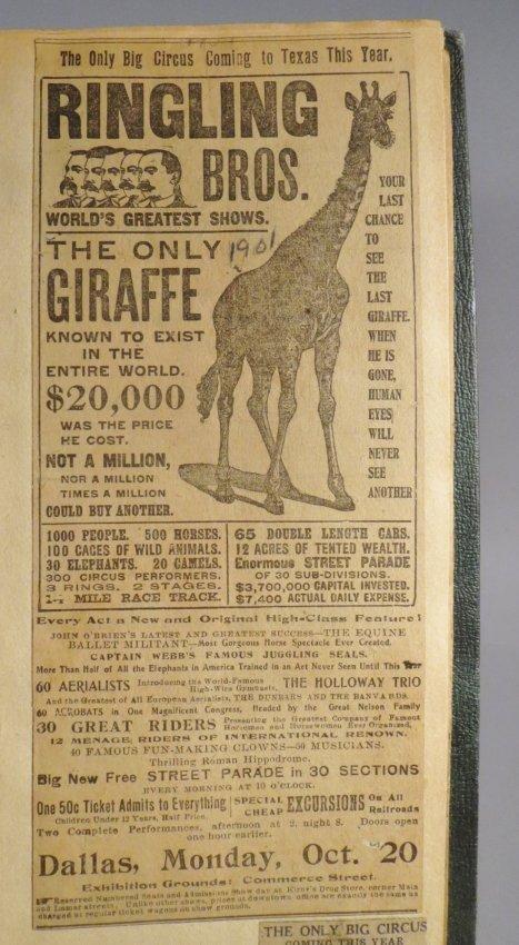 Zoological Paradise!Circus Scrapbook,Ringling Bros 1891 - 4