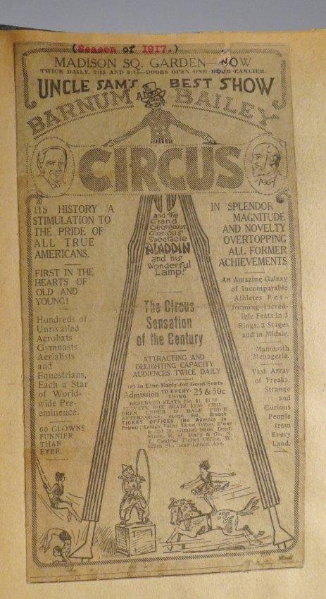 Zoological Paradise!Circus Scrapbook,Ringling Bros 1891 - 5