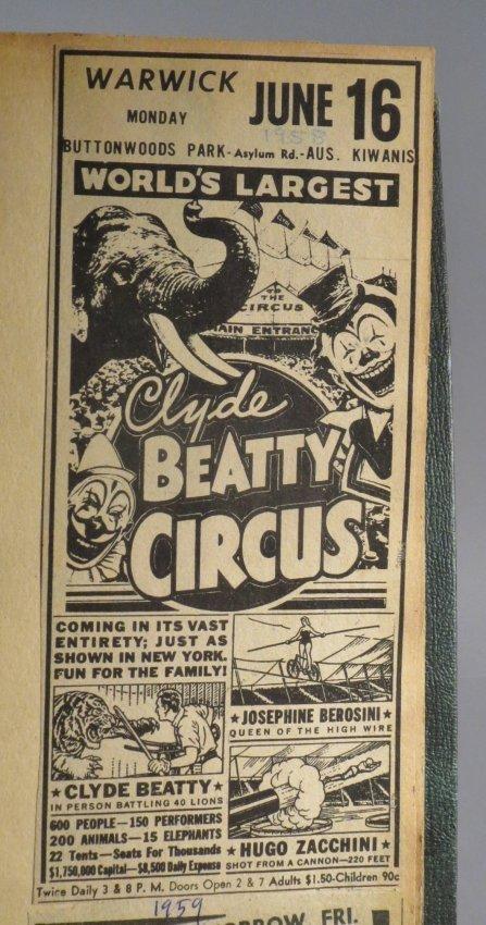 Zoological Paradise!Circus Scrapbook,Ringling Bros 1891 - 6