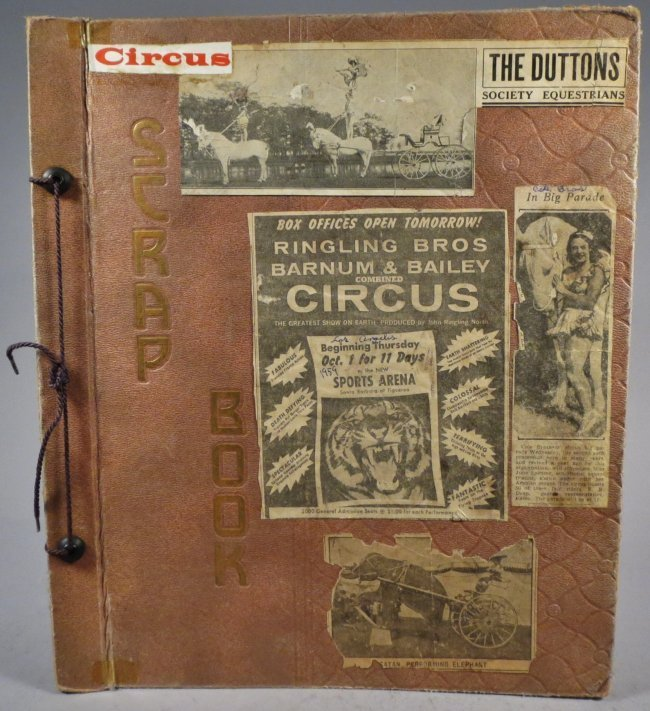 World Famed Artists! Circus Scrapbook, Buffalo Bill +
