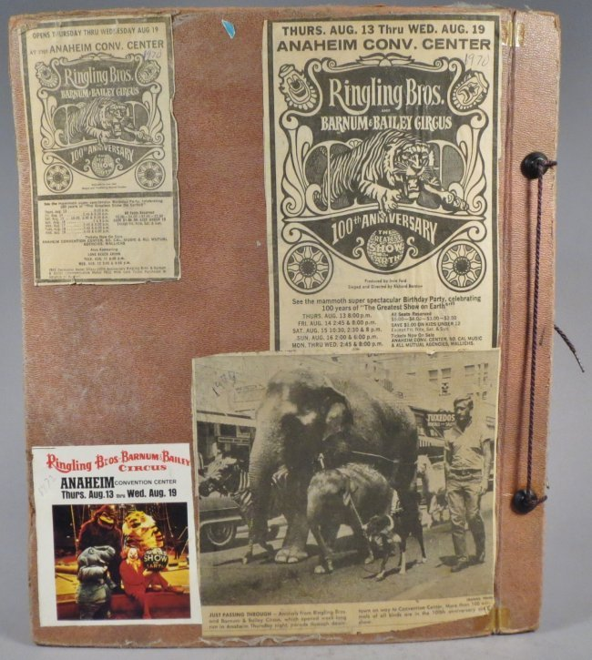 World Famed Artists! Circus Scrapbook, Buffalo Bill + - 2
