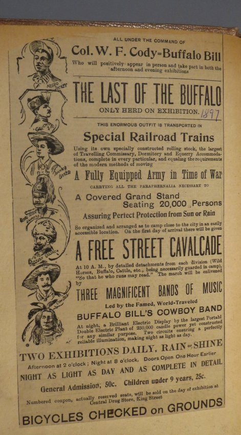 World Famed Artists! Circus Scrapbook, Buffalo Bill + - 4