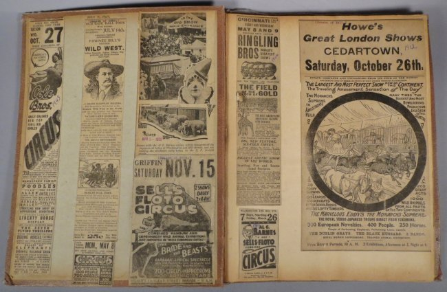 World Famed Artists! Circus Scrapbook, Buffalo Bill + - 7