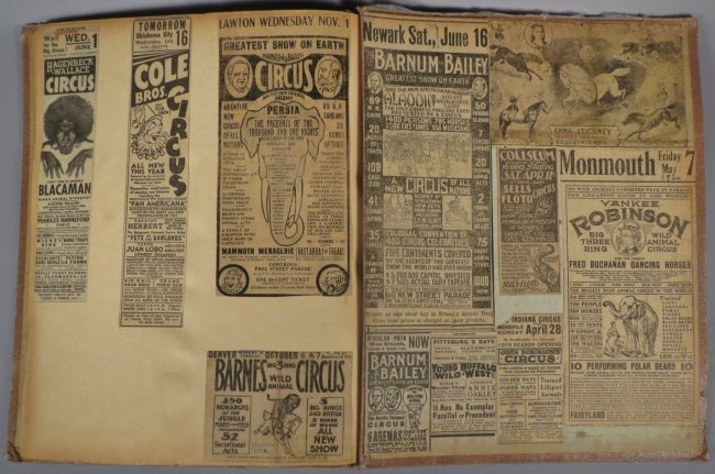 World Famed Artists! Circus Scrapbook, Buffalo Bill + - 8