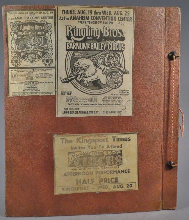Jumbo Skeleton! Circus Scrapbook, Al G Barnes + 1882 + - 2