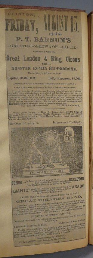 Jumbo Skeleton! Circus Scrapbook, Al G Barnes + 1882 + - 3