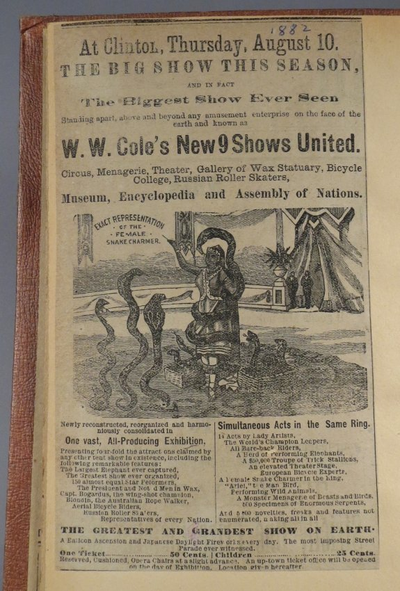 Jumbo Skeleton! Circus Scrapbook, Al G Barnes + 1882 + - 4