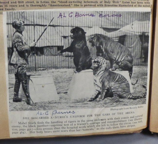 Jumbo Skeleton! Circus Scrapbook, Al G Barnes + 1882 + - 5