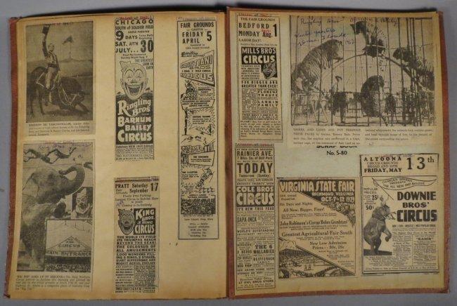 Jumbo Skeleton! Circus Scrapbook, Al G Barnes + 1882 + - 7