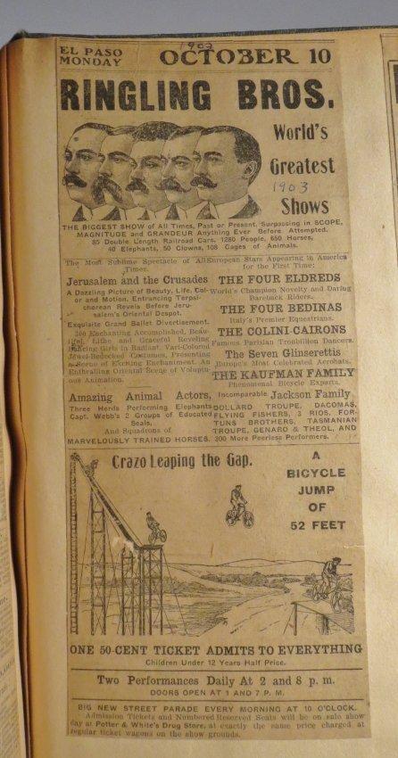 United Monster Shows! Circus Scrapbook Sells Bros +1872 - 10