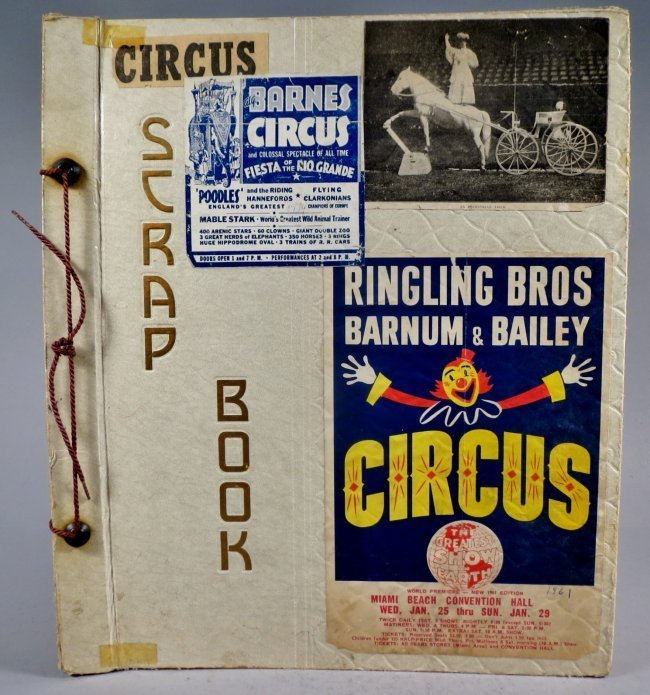 United Monster Shows! Circus Scrapbook Sells Bros +1872
