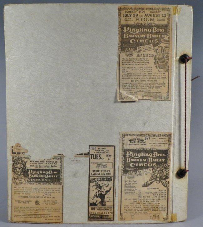 United Monster Shows! Circus Scrapbook Sells Bros +1872 - 2