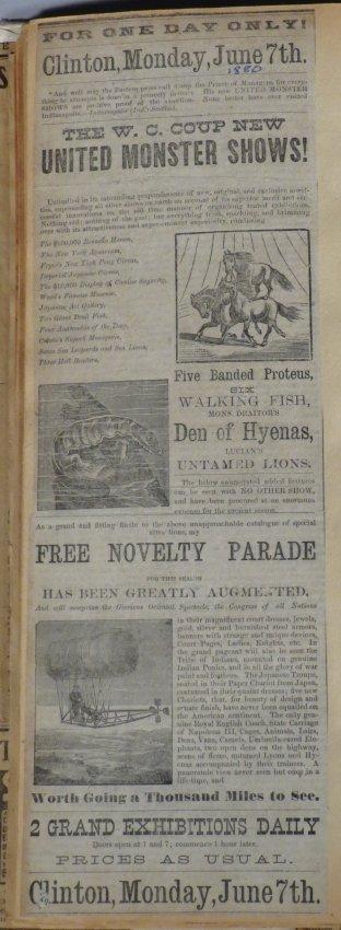 United Monster Shows! Circus Scrapbook Sells Bros +1872 - 6