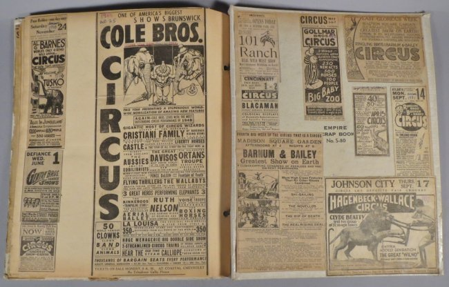United Monster Shows! Circus Scrapbook Sells Bros +1872 - 7