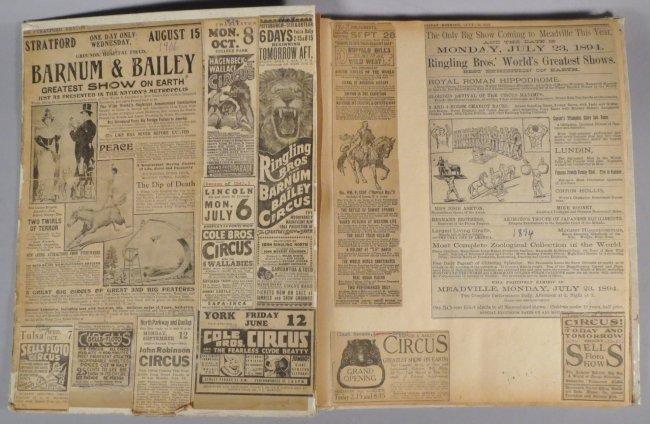 United Monster Shows! Circus Scrapbook Sells Bros +1872 - 8