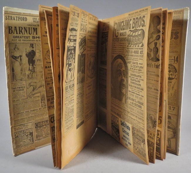 United Monster Shows! Circus Scrapbook Sells Bros +1872 - 9
