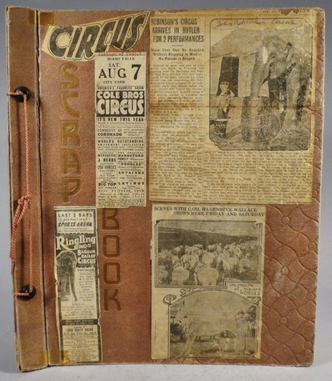 25 Famous Clowns! Circus Scrapbook, Gollmar Bros + 1894