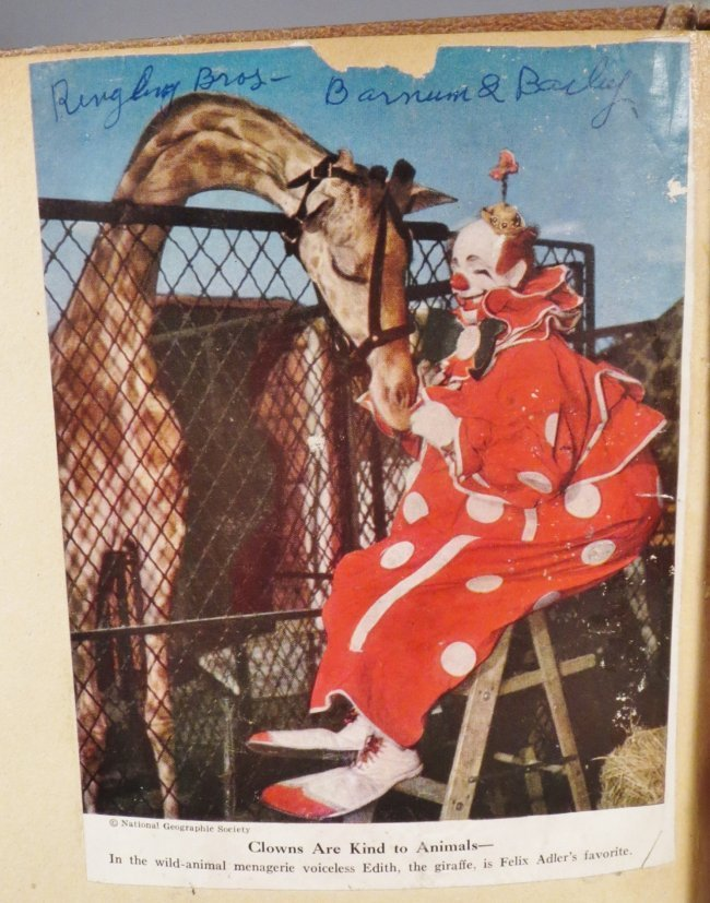 25 Famous Clowns! Circus Scrapbook, Gollmar Bros + 1894 - 8
