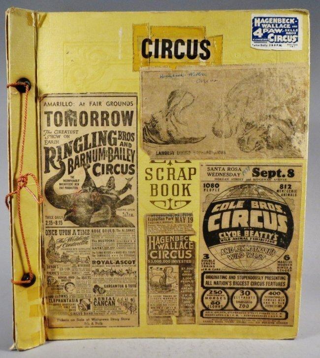 Dip of Death! Circus Scrapbook, Christy Bros + 1889 +