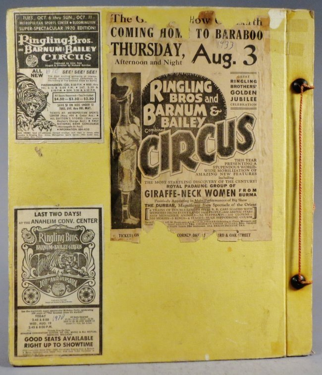 Dip of Death! Circus Scrapbook, Christy Bros + 1889 + - 2