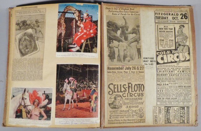 Dip of Death! Circus Scrapbook, Christy Bros + 1889 + - 3