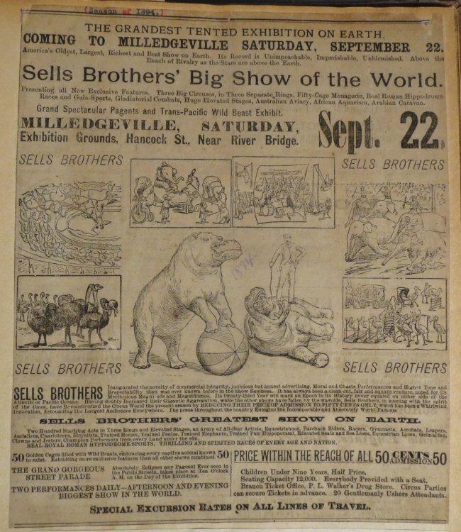 Dip of Death! Circus Scrapbook, Christy Bros + 1889 + - 4